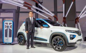 Carlos Ghosn před modelem Renault K-ZE. Foto: Renault