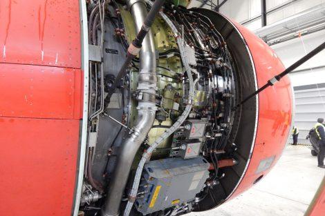 Motor letadla Airbus A319. Autor: Zdopravy.cz/Jan Šindelář