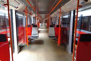 Testovací design vagonu na lince metra C. Pramen: DPP