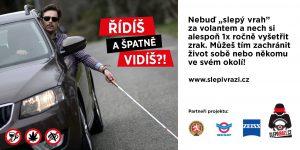 Reklamní plakát ke kampani Slepí vrazi. Foto: Slepivrazi.cz