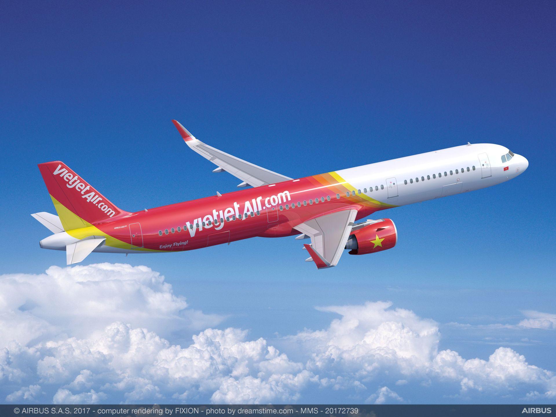 A321neo v barvách VietJetu. Foto: Airbus