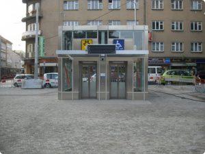 Výtahy do metra na Andělu. Foto: DPP