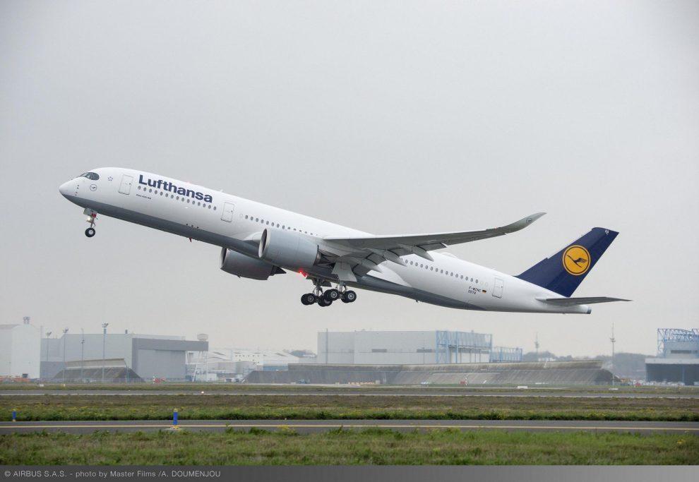 Airbus A350-900 v barvách společnosti Lufthansa. Foto: Airbus