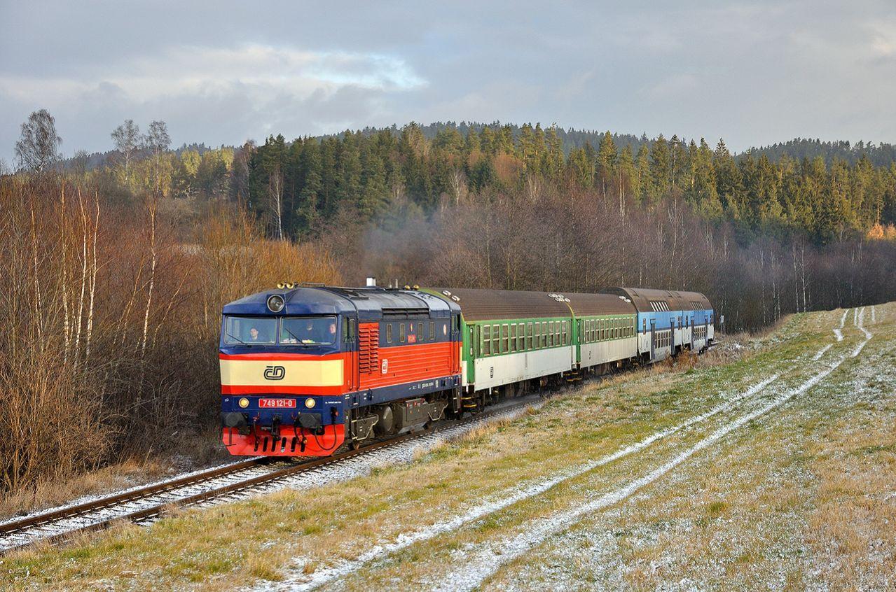 Lokomotiva 749.121, zvaná bardotka či barča. Autor: Jan Hejzlar