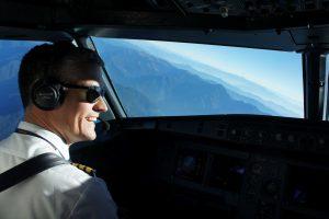 Slavomír Pískatý během letu. Foto: archiv Slavomíra Pískatého