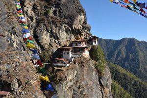 Taktsang, známý též jako Tygří hnízdo, je buddhistický klášter ležící v blízkosti západobhútánského města Paro. Foto: Slavomír Pískatý