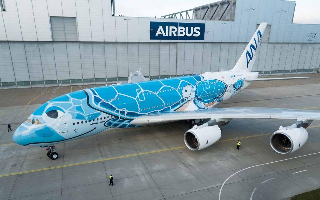 Airbus A380 v laku pro All Nippon Airways. Foto: Airbus