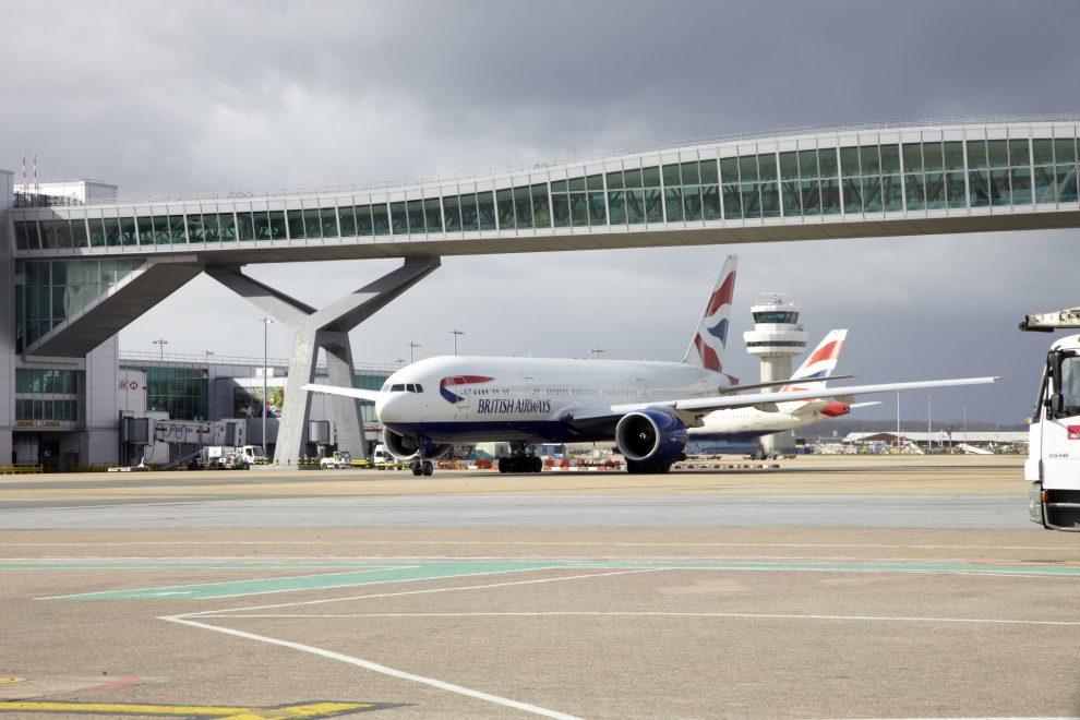 Boeing 777 British Airways na letišti Gatwick. Foto: Gatwick Airport