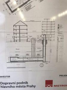 Plán umístění výtahu do stanice Karlovo náměstí. Foto: David Ocetník