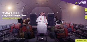 Vtip letecké společnosti Flyadeal o cestovní třídě v zavazadlovém prostoru. Foto: Flyadeal
