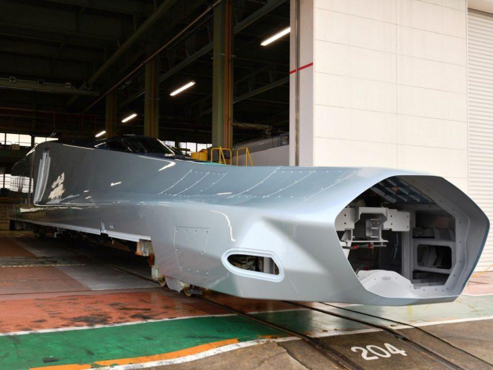 První vůz nové jednotky Alfa-X. Foto: Akihiro Nakamura