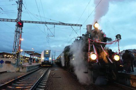 Historický vlak připomíná návrat prezidenta Masaryka do vlasti. Autor: České dráhy
