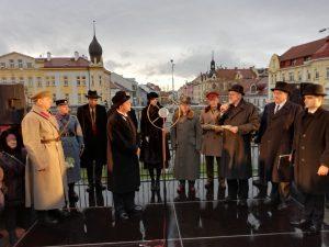 Historický vlak připomíná návrat prezidenta Masaryka do vlasti.  Přivítání v Českých Budějovicích. Autor: České dráhy