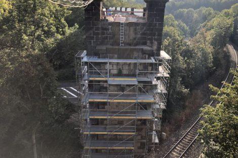 Z opravy viaduktů na Pražském Semmeringu. Foto: Metrostav