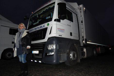 Řidička kamionu Jana Jánová. Autor: Zdopravy.cz/Jan Šindelář