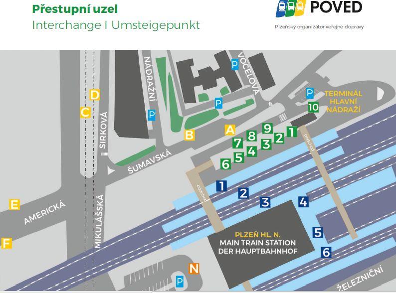 Mapa nového terminálu Šumavská. Foto: Poved