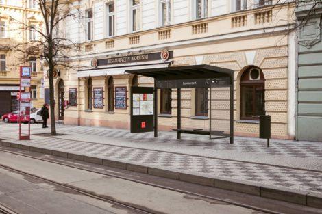Nový vzhled pražských zastávek, vítězný návrh studia Artěl. Pramen: IPR Praha