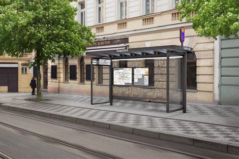 Nový vzhled pražských zastávek, 4. cena, Bittercraft&Com. Pramen: IPR Praha