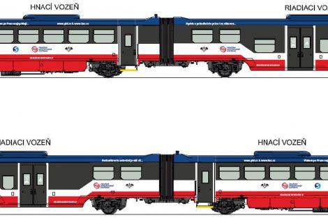 Vizualizace motorové jednotky 813 pro KŽC Doprava. Foto: registr smluv