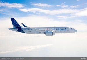 Airbus A220-300 za letu. Foto: Airbus