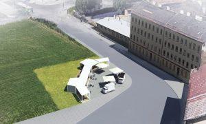 Úprava prostranství před dolním nádražím - vizualizace. Pramen: Město Brno