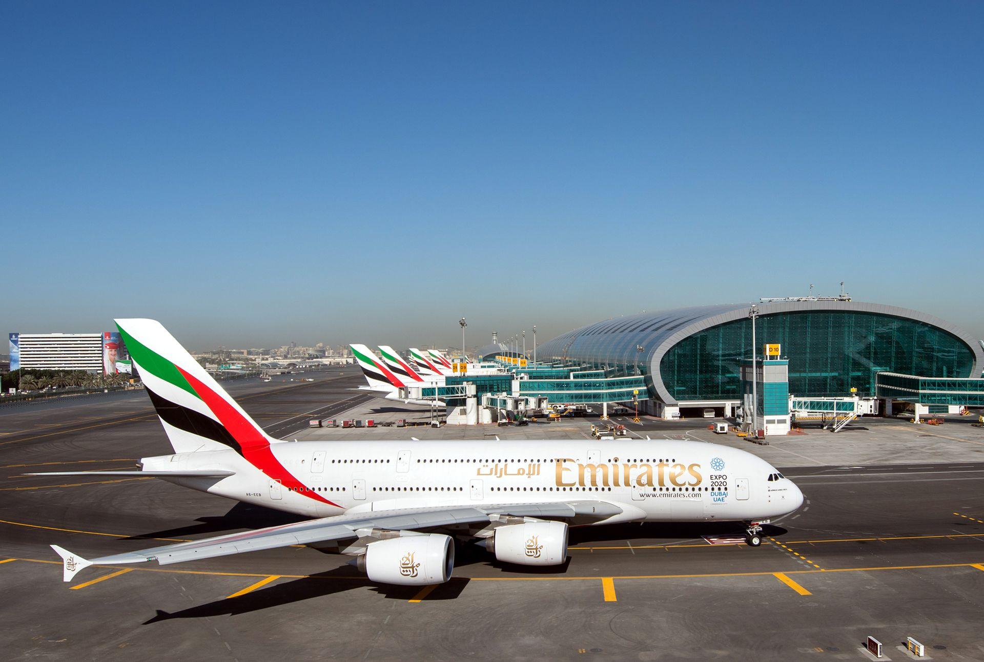 A380 společnosti Emirates v Dubaji. Foto: Emirates
