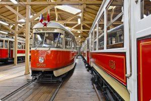 Tramvaj T1 v pražském muzeu MHD. Foto: DPP