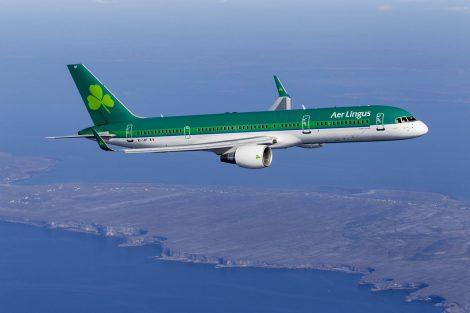 Dosavadní nátěr letadel Aer Lingus na boeingu 757. Foto: Aer Lingus