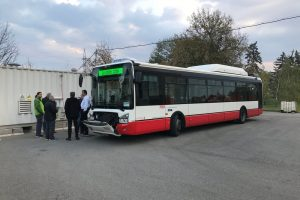 Autobus Iveco Urbanway jezdící na biometan. Foto: DPMB