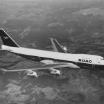 Boeing 747 v barvách BOAC. Foto: Fox Photos/Hulton Archive/Getty Images.