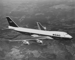 Boeing 747 v barvách BOAC. Foto: Fox Photos/Hulton Archive/Getty Images.
