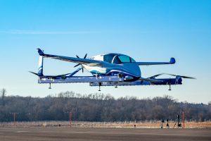 Letadlo eVTOL (electric vertical takeoff and landing), které poprvé vzlétlo v lednu 2019. Foto: Boeing