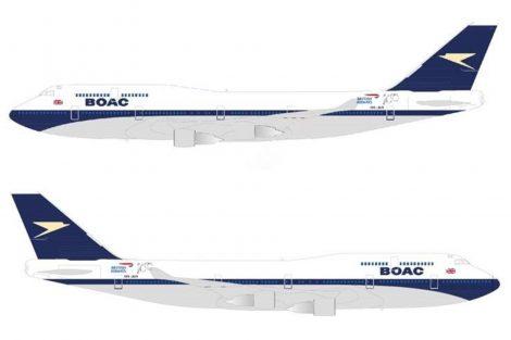 Vizualizace retro nátěru BOAC na Boeingu 747-400. Foto: BA