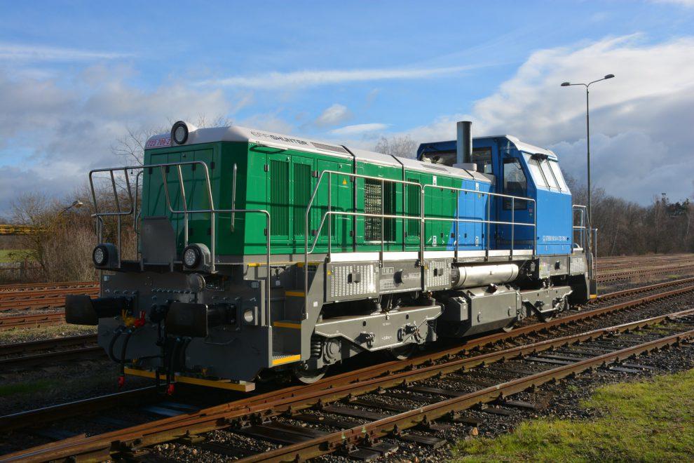 Nová lokomotiva EffiShunter 600 soznačením 723.709. Foto: CZ LOKO