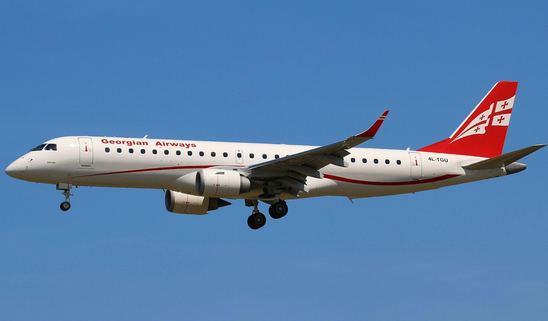 Embraer 190 společnosti Georgian Airways. Foto: Georgian Airways