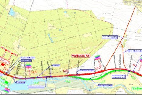 Trasa modernizované tratě mezi Kanínem a Chlumcem nad Cidlinou. Mapa v plném rozlišení je zde: https://portal.cenia.cz/eiasea/detail/EIA_OV1222