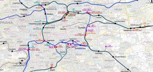 SŽDC ve studii prověřovala 24 lokalit po celé Praze. Pramen: SŽDC