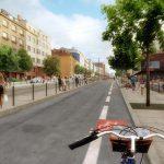 Vizualizace opravy ulice Na Pankráci včetně tramvajové tratě a nové zastávky. Foto: IPR