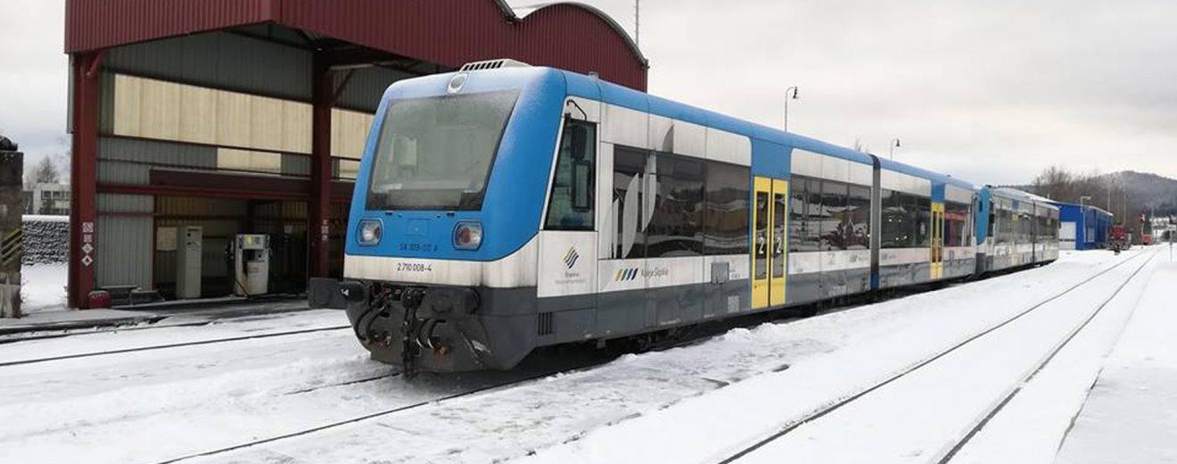 Motorová jednotka SA109 ve Volarech. Foto: Petr Špetlák