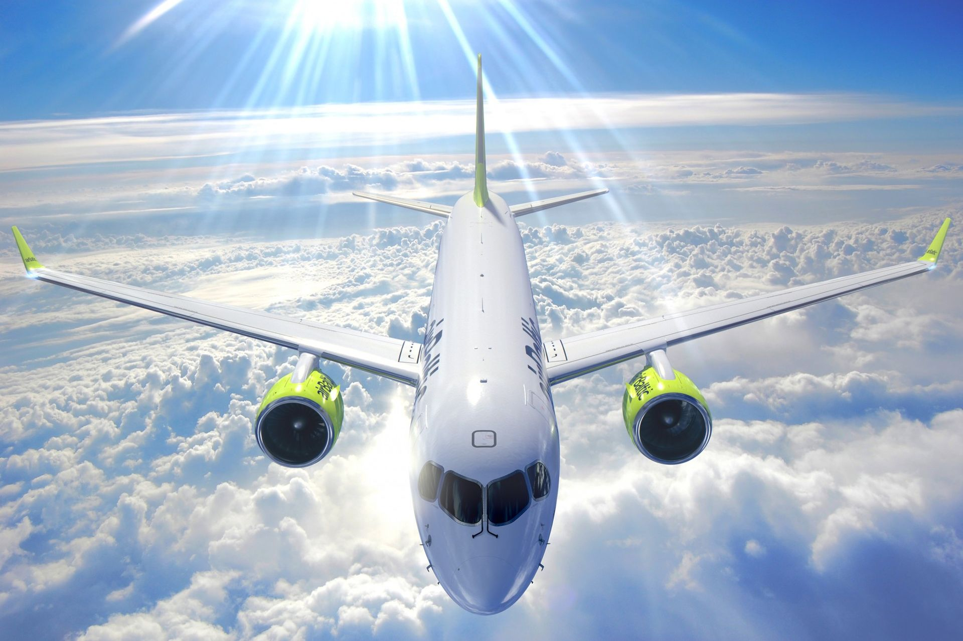 Airbus A220-300 v barvách airBaltic. Foto: airBaltic
