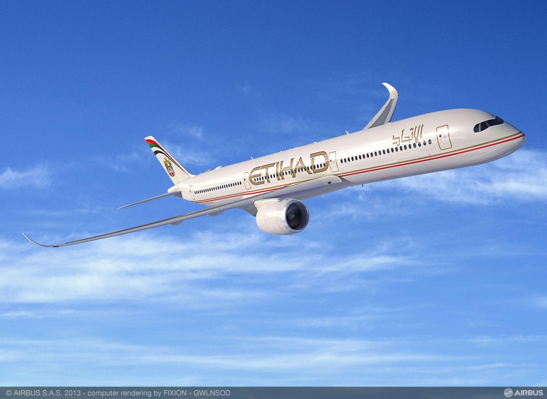 A350-1000 v barvách Etihad Airways. Foto: Airbus