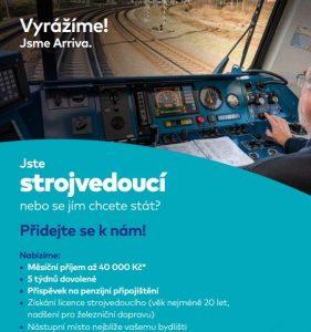 Náborový leták společnosti Arriva. Pramen: Arriva