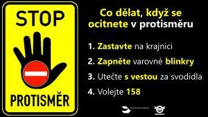 Rady ministerstva dopravy pro řidiče, kteří se ocitnou v protisměru