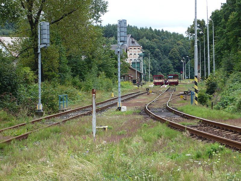 Velká Kraš, vlevo trať do Vidnavy. Autor: JanSuchy – Vlastní dílo, Volné dílo, https://commons.wikimedia.org/w/index.php?curid=8343263