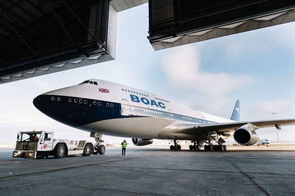 Boeing 747-400 společnosti British Airways v retronátěru BOAC. Foto: BA