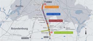 Mapa trasy Dresdner Bahn v Berlíně. Foto: Deutsche Bahn
