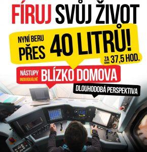 Reklama IDS Cargo na práci strojvedoucího