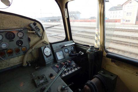 Stanoviště lokomotivy 748.536-0, výrobce Faur, Rumunsko, rok výroby 1981. Autor: Zdopravy.cz/Jan Šindelář