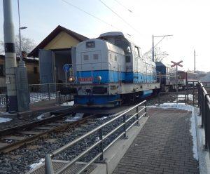Lokomotivu Faur společnosti Railway Capital u Křižíkova depa. Autor: Zdopravy.cz/Jan Šindelář