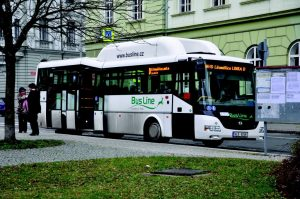 Městskou autobusovou dopravu v Litoměřicích zajišťovala společnost BusLine, později TD Bus. Foto: MěÚ Litoměřice